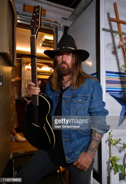 Billy Ray Cyrus poses for a portrait backstage during the 2019 Stagecoach Festival at Empire Polo Field on April 28 2019 in Indio California