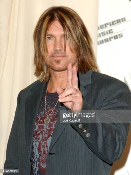 Billy Ray Cyrus presenter during 2006 American Music Awards Press Room at Shrine Auditorium in Los Angeles CA United States