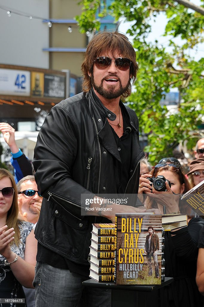 Billy Ray Cyrus visits 'Extra' at The Grove on April 23, 2013 in Los Angeles, California.