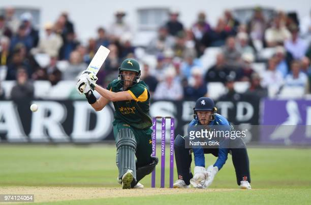 Billy Root of Nottingham batting during the Royal London OneDay Cup match between Nottinghamshire Outlaws and Kent Spitfires at Trent Bridge on June...