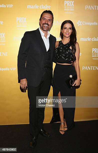 Billy Rovzar and Claudia Alvarez attend the Prix De La Mode Marie Claire at Hotel Hyatt Campos Eliseos on November 17 2015 in Mexico City Mexico