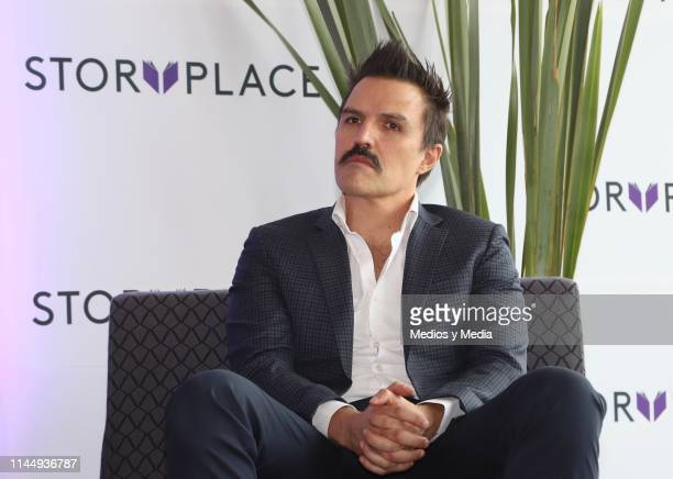 Billy Rovzar speaks during 'Story Place' App Launch on April 24 2019 in Mexico City Mexico