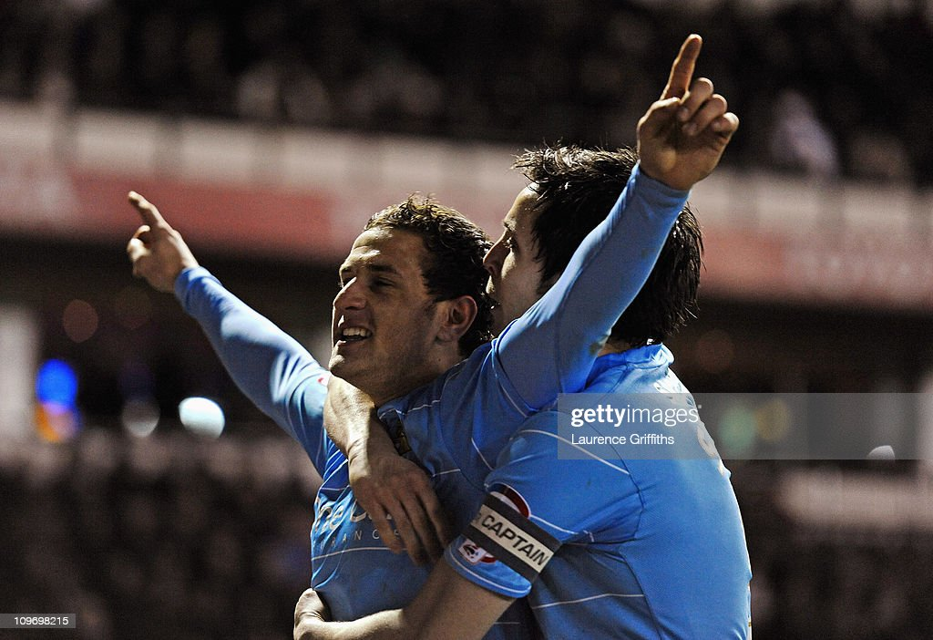 Billy Sharp of Doncaster Rovers celebrates scoring the second goal during the npower Championship match between Derby County and Doncaster Rovers at Pride Park on March 1, 2011 in Derby, England.