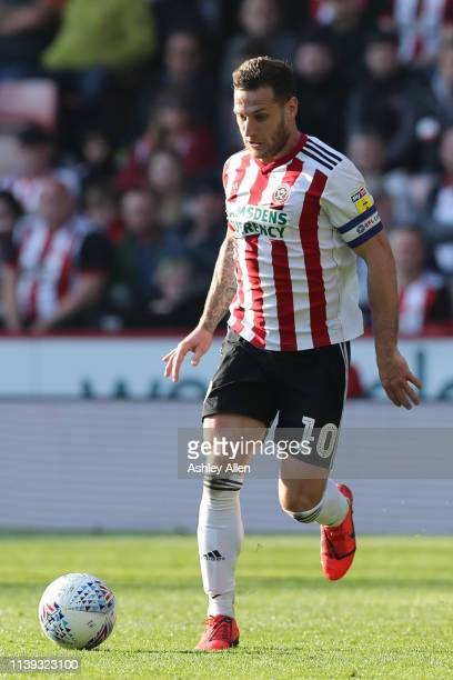 Billy Sharp of Sheffield United during the Sky Bet Championship match between Sheffield United and Bristol City at Bramall Lane on March 30, 2019 in...