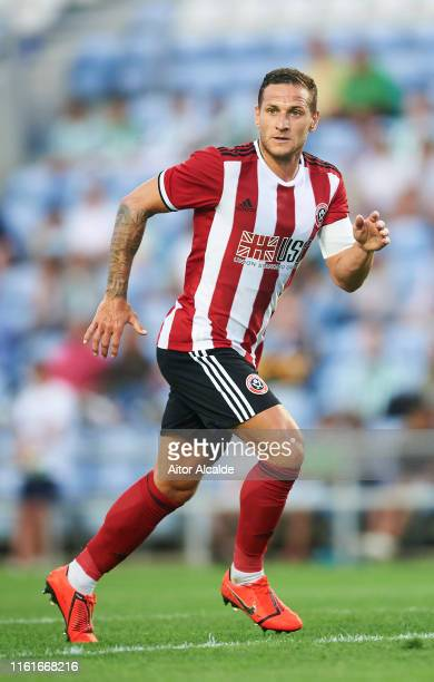 Billy Sharp of Sheffield United in action during a preseason friendly match between Real Betis Balompie and Sheffield United FC at Estadio Algarve on...