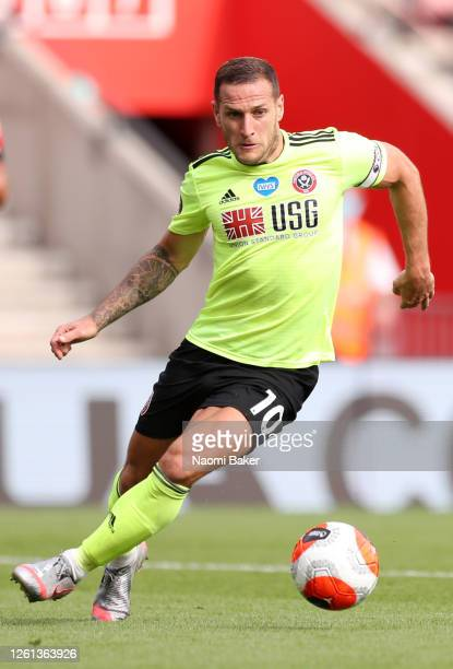 Billy Sharp of Sheffield United in action during the Premier League match between Southampton FC and Sheffield United at St Mary's Stadium on July 26...