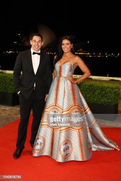 Billy Slater and his wife Nicole Slater arrive at the 2018 Dally M Awards at Overseas Passenger Terminal on September 26 2018 in Sydney Australia