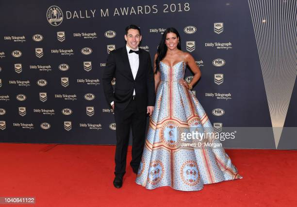 Billy Slater and his wife Nicole Slater attend the 2018 Dally M Awards on September 26 2018 in Sydney Australia
