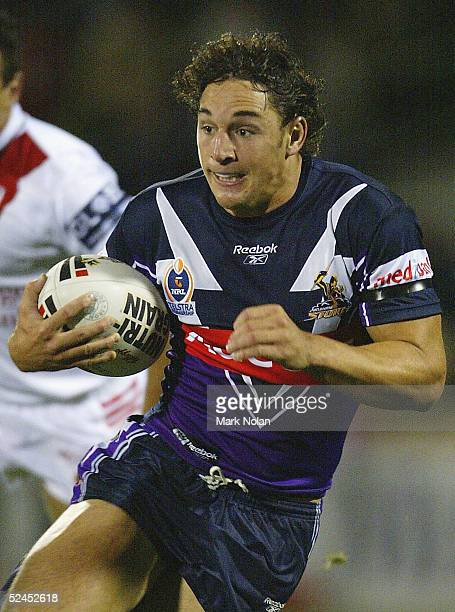 Billy Slater of the Storm in action during the round 2 NRL match between the StGeorge Illawarra Dragons and the Melbourne Storm at WIN Stadium March...