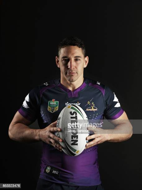 Billy Slater of the Storm poses during a Melbourne Storm NRL training session at Gosch's Paddock on September 25 2017 in Melbourne Australia