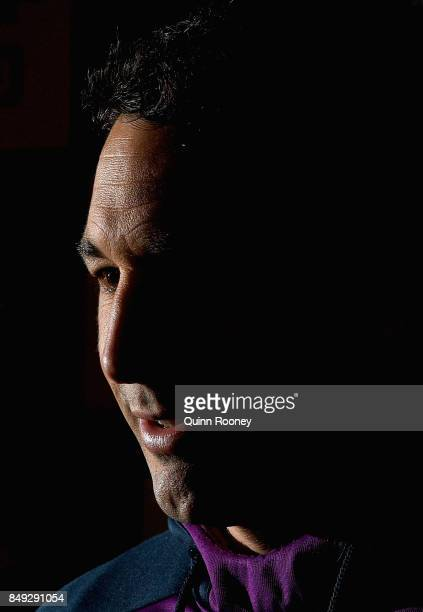 Billy Slater of the Storm talks to the media during a Melbourne Storm NRL media opportunity at Gosch's Paddock on September 19 2017 in Melbourne...