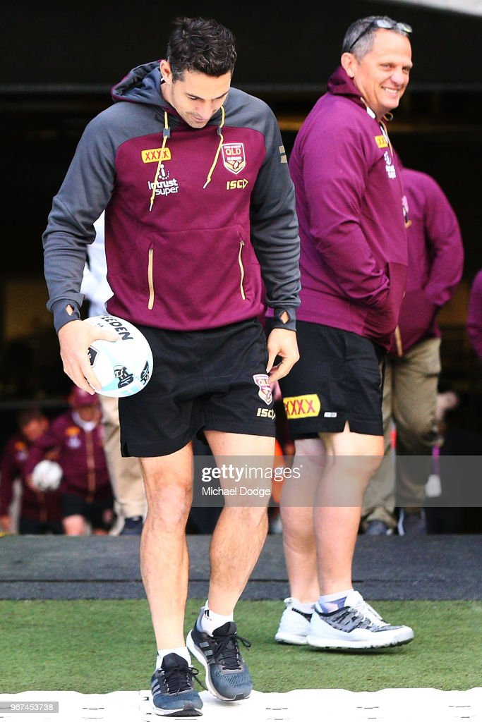 Queensland Maroons Captain's Run : News Photo