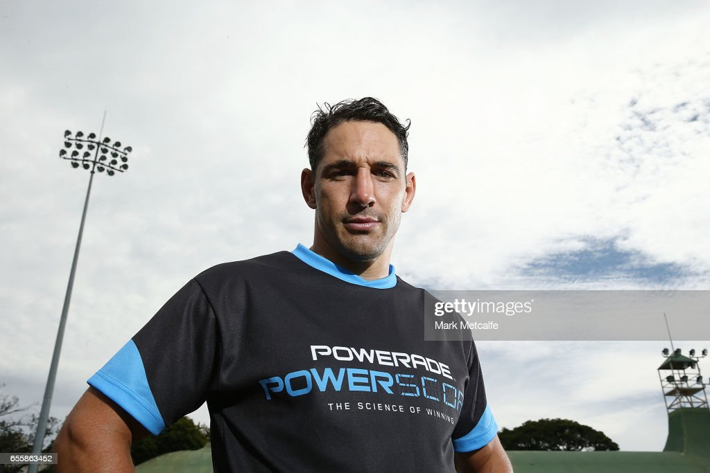 Billy Slater poses during the Powerade Powerscore Launch Event at North Sydney Oval on March 21, 2017 in Sydney, Australia.