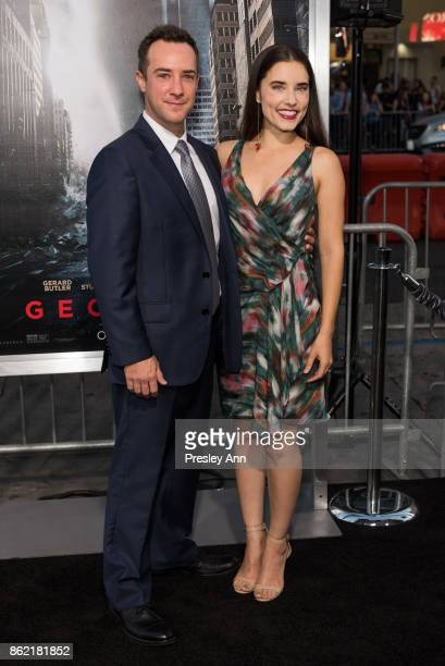 Billy Slaughter and Alix Angelis attends Premiere Of Warner Bros Pictures' 'Geostorm' Arrivals at TCL Chinese Theatre on October 16 2017 in Hollywood...