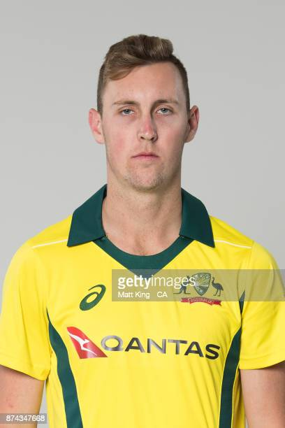 Billy Stanlake poses during the Australia One Day International Team Headshots Session at Intercontinental Double Bay on October 15 2017 in Sydney...