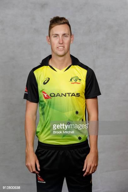 Billy Stanlake poses during the Australian International Twenty20 headshots session at Sydney Cricket Ground on February 1 2018 in Sydney Australia