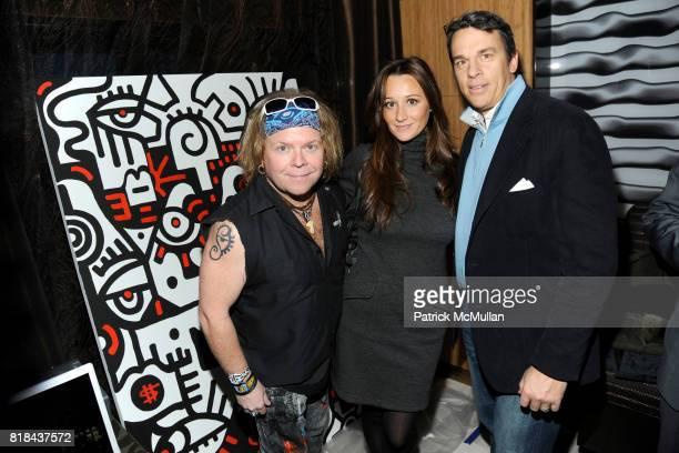 Billy The Artist Alexandra Osipow and AJ Vissicchio attend ANDAZ WALL STREET Housewarming Party at Andaz Wall Street on January 11 2010 in New York...