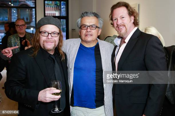 Billy the Artist Ral Zamudio and Gregory De La Haba attend the Swiss Wine Valais Loves New York hosted by Gregory de la Haba Billy The Artist Anthony...