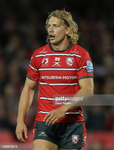 Billy Twelvetrees of Gloucester looks on during the Gallagher Premiership Rugby match between Gloucester Rugby and Bristol Bears at Kingsholm Stadium...