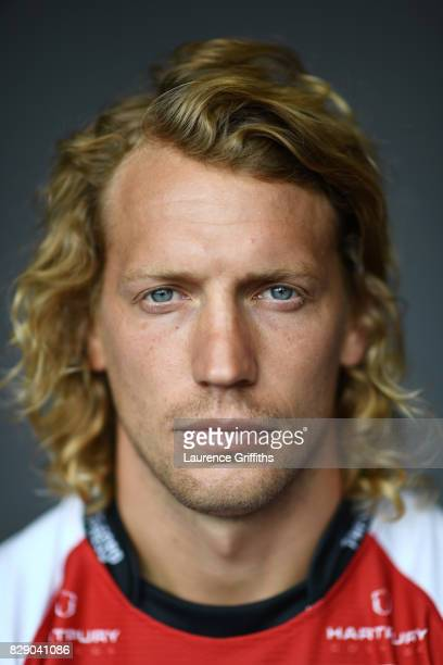 Billy Twelvetrees of Gloucester Rugby poses for a portrait during the Gloucester Rugby squad photo call for the 20172018 Aviva Premiership Rugby...