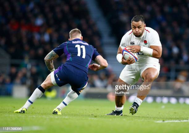 Billy Vunipola of England during the Guinness 6 Nations Rugby match between England and Scotland at Twickenham stadium in Twickenham England on 16th...