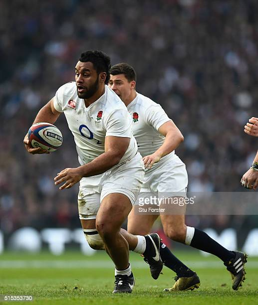 Billy Vunipola of England in action during the RBS 6 Nations match between England and Wales at Twickenham Stadium on March 12 2016 in London England