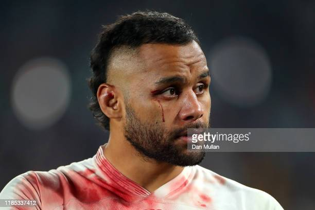 Billy Vunipola of England looks dejected as he applauds the crowd following his side's defeat during the Rugby World Cup 2019 Final between England...