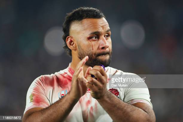 Billy Vunipola of England looks on dejected after defeat in the Rugby World Cup 2019 Final between England and South Africa at International Stadium...