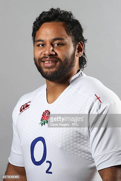 Billy Vunipola of England poses for a portrait at the Pennyhill Park Hotel on October 27 2014 in Bagshot England