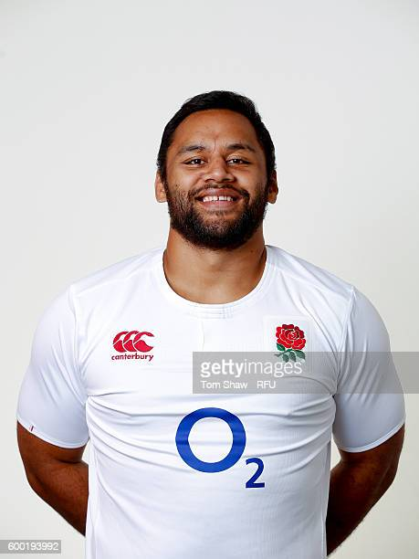 Billy Vunipola of England poses for a portrait during the England Elite Player Squad photo call at The Lensbury on August 7 2016 in Teddington England