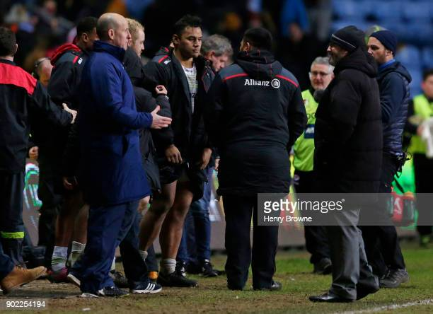 Billy Vunipola of Saracens after the Aviva Premiership match between Wasps and Saracens at The Ricoh Arena on January 7 2018 in Coventry England