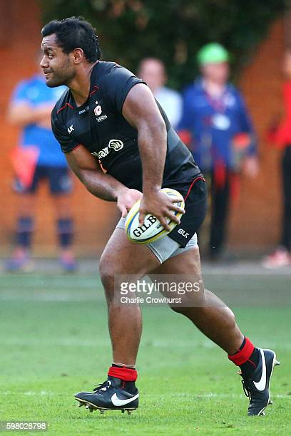 Billy Vunipola of Saracens in action during the pre season friendly match between Saracens and London Scottish FC at Honourable Artillery Company on...