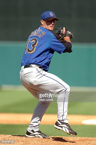 Billy Wagner of the New York Mets pitches against the St. Louis Cardinals in the fifth inning during Spring Training on March 2, 2006 at Mets Stadium...