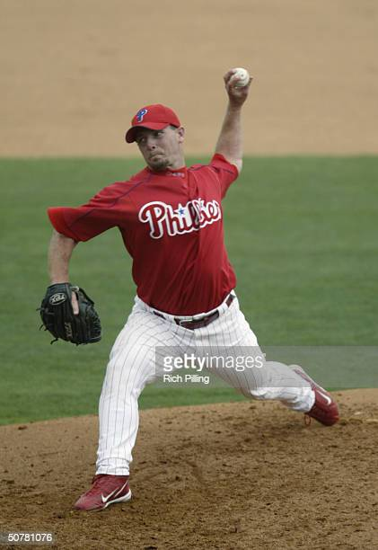 Billy Wagner of the Philadelphia Phillies pitching at Bright House Networks Field on March 15, 2004 in Clearwater, FL. .