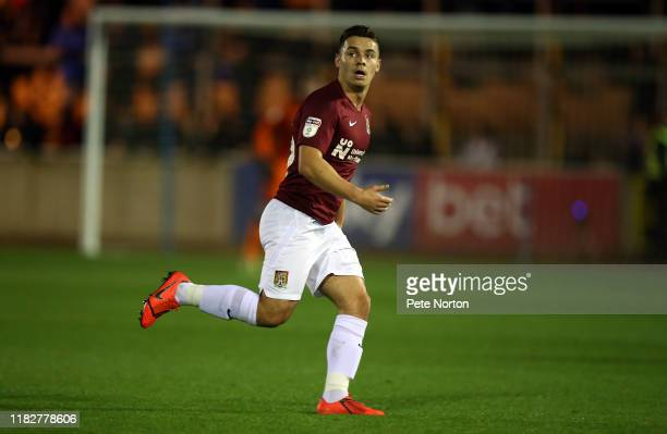 Billy Waters of Northampton Town in action during the Sky Bet League Two match between Carlisle United and Northampton Town at Brunton Park on...