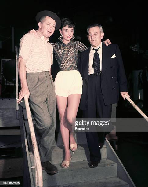 Billy Wilder Audrey Hepburn and William Wyler Undated UPI color slide