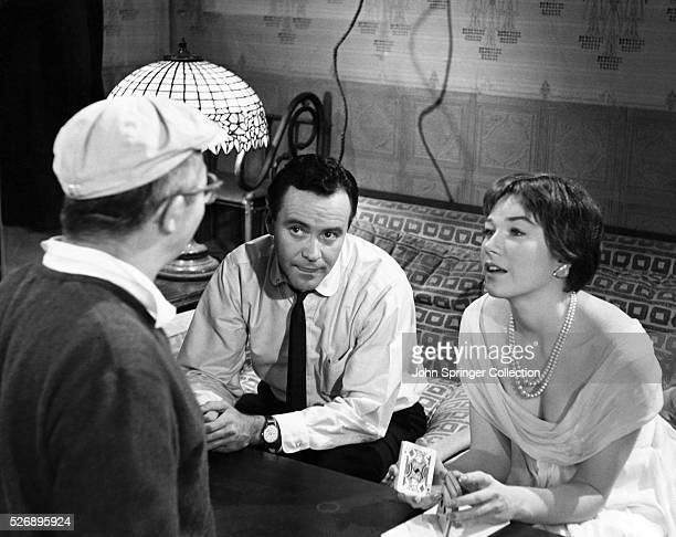 Billy Wilder directing Jack Lemmon and Shirley MacLaine in 1960 film The Apartment