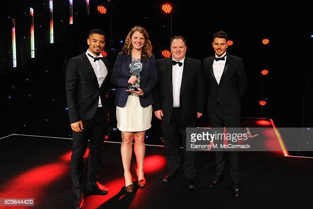 Billy Wingrove and Jeremie Lynch present the Digital Platform of the Year award to AELTC Wimbledoncom at the BT Sport Industry Awards 2016 at...