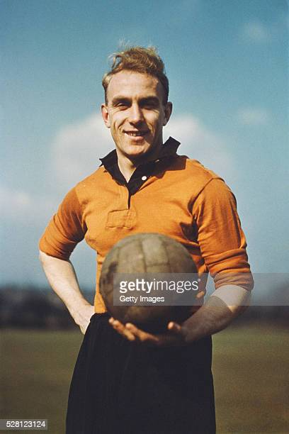 Billy Wright of Wolverhampton Wanderers and England pictured circa 1954