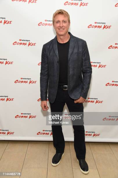 Billy Zabka attends the Cobra Kai Premiere at The Paley Center for Media on April 22, 2019 in Beverly Hills, California.
