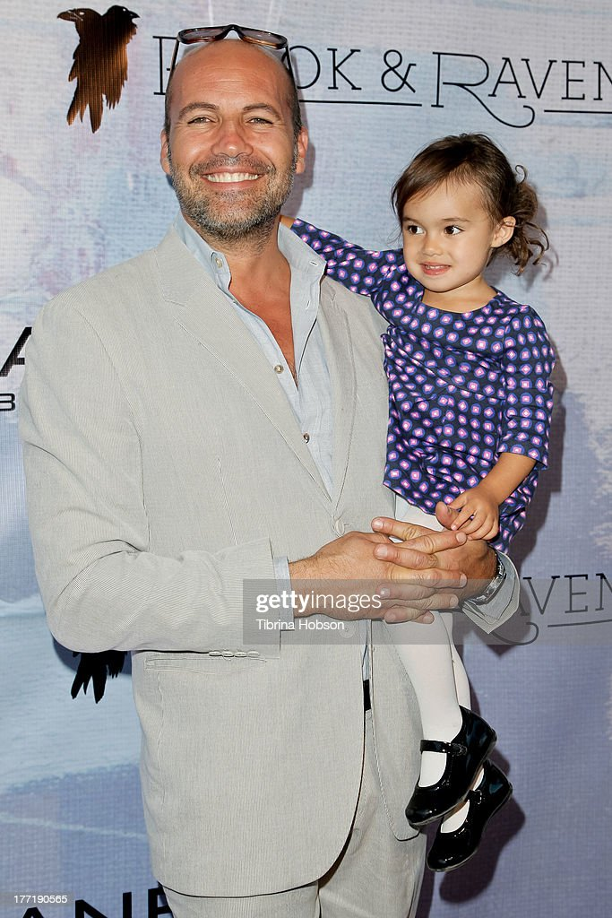 Billy Zane and daughter Eva Zane attend the artist's reception for Billy Zane's solo art exhibition 'Seize The Day Bed' on August 21, 2013 in Los Angeles, California.