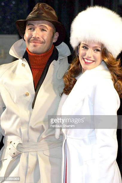 Billy Zane and Kelly Brook during Harrods January Sale Opening and Photocall December 28 2005 at Harrods in London Great Britain