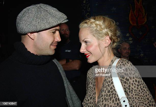 Billy Zane and Monet Mazur enjoy a performance by Elvis Costello and The Imposters at the House of Blues for a sold out GRAMMY week concert event by...
