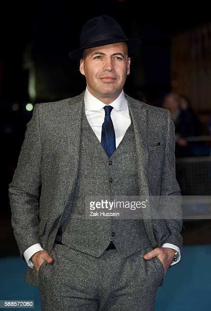 Billy Zane arriving at the European premiere of Eddie the Eagle at the Odeon Leicester Square in London