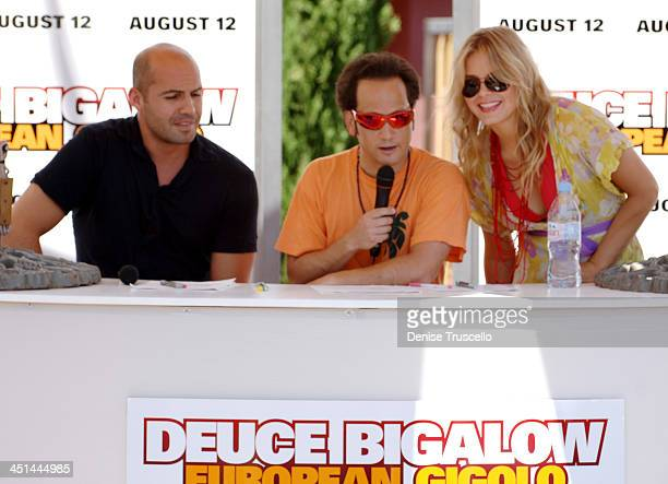 Billy Zane Ron Schneider and Hanna Verboom during Deuce Bigalow European Gigolo Male Gigolo Contest Hosted by MTV Hits Summer on the Strip at The...