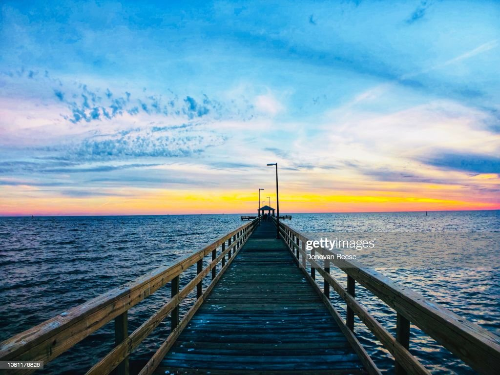 Biloxi Mississippi Fishing  Pier : Stock Photo