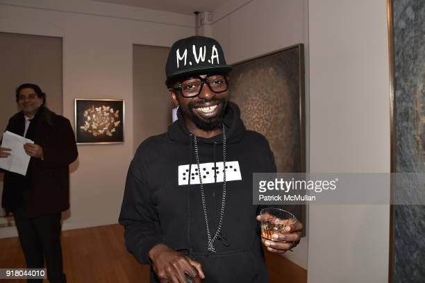 Bim Star attends Neil Grayson Industrial Melanism solo exhibition at Eykyn Maclean Gallery on February 13 2018 in New York City