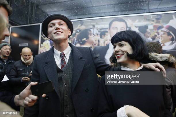 Bimba Bose and Charlie Centa attend 'The Wolf of Wall Street' Madrid Premiere on January 15, 2014 in Madrid, Spain.