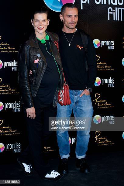 Bimba Bose and David Delfin attend 'Proindes Films' presentation at Oui Madrid on June 7 2011 in Madrid Spain