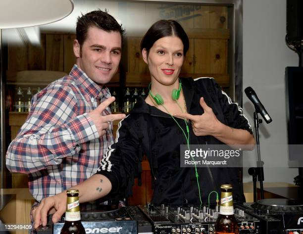 Bimba Bose and Fonsi Nieto attend the New Winter Season Party hosted by Baqueira/Beret ski resort held at the Hotel Florida on November 15, 2011 in...